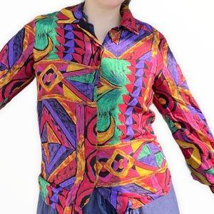 Vintage Jeremy Scott 90 tribal abstract multicolor